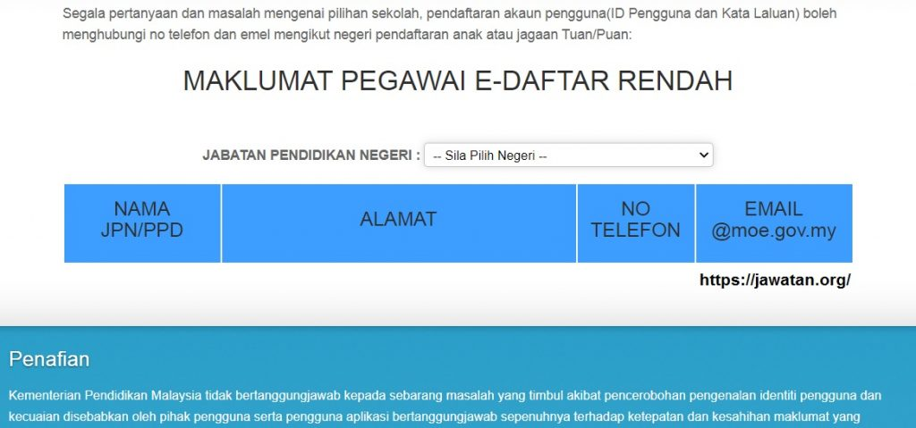 Permohonan Pendaftaran Tahun 1 sesi 2021/2022 Online